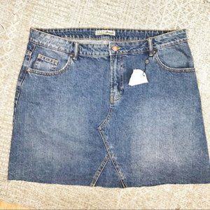 Primark women's skirt denim jean plus size 16